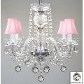 Swarovski Crystal Trimmed Chandelier Lighting Murano Venetian Style - Thumbnail 0