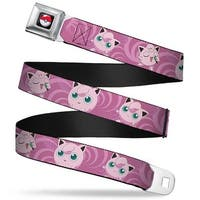 Pok Ball Full Color Jigglypuff Poses Pink Swirl Webbing Seatbelt Belt Seatbelt Belt