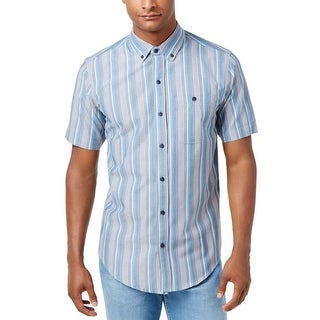 Ezekiel NEW Stillwater Blue Mens Size Small S Striped Button Down Shirt
