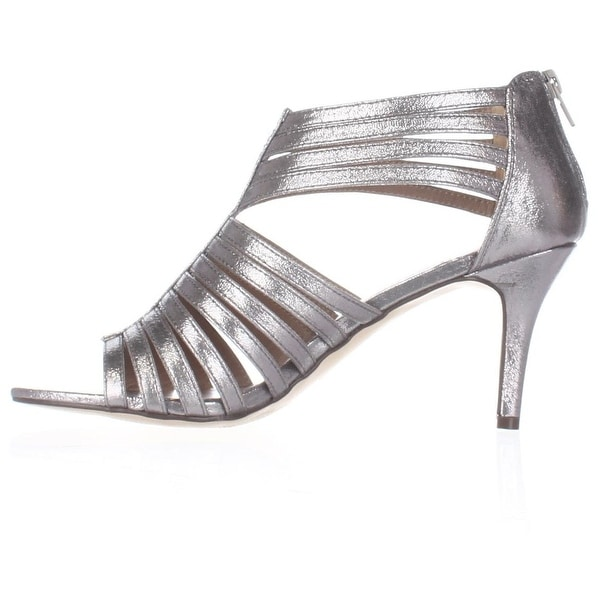 Style & Co. Womens SHAYNAA Open Toe Casual Strappy Sandals, PEWTER, Size 10.0