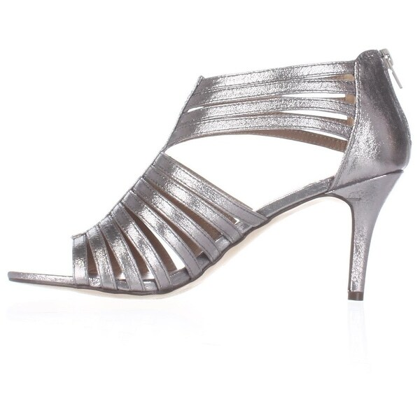 Style & Co. Womens SHAYNAA Open Toe Casual Strappy Sandals, PEWTER, Size 7.0