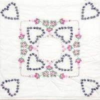 "Delightful Hearts - Stamped Quilt Blocks 18""X18"" 6/Pkg"