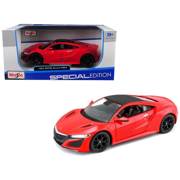 Shop 2018 Acura NSX Red With Black Top 1/24 Diecast Model