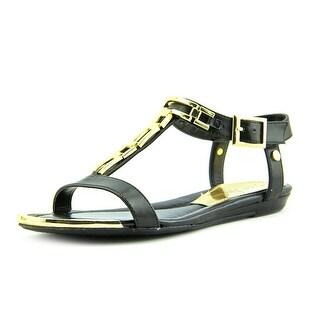 Marc Fisher Maribell Women Open-Toe Synthetic Black Slingback Sandal