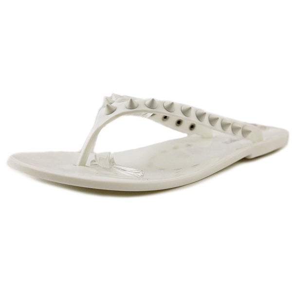 Nine West Whiplash Women Open Toe Synthetic White Flip Flop Sandal