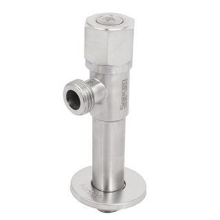 M20 Male Thread 125mm Height 304 Stainless Steel Brass Core Angle Stop Valve