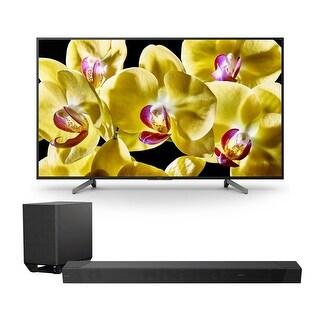 "Sony XBR-65X800G 65"" 4K HDR Ultra HD Smart TV with HT-ST5000 7.1.2ch 800W Dolby Atmos Sound Bar - Black"