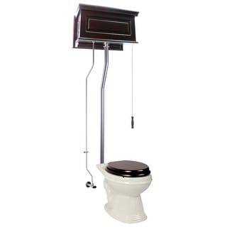 Renovator's Supply Dark Oak Raised Tank Elongated High Tank Toilet