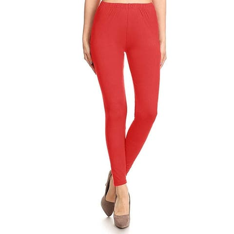 NioBe Clothing Womens High Waist Solid Basic Soft Leggings