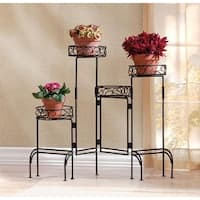 4-Tier Plant Stand Screen - Black