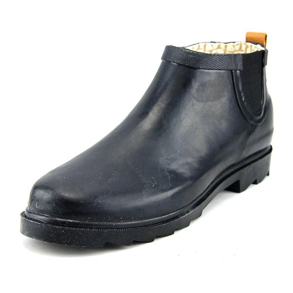 Chooka Top Solid Low Women Round Toe Synthetic Black Rain Boot