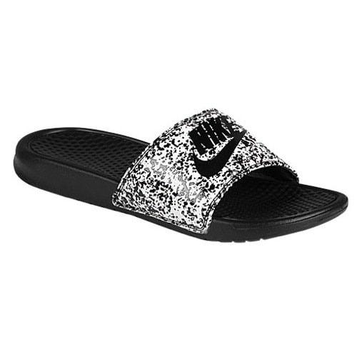 3940816e192a01 Shop Nike Men s Benassi JDI Print White Black 631261-100 (SIZE  10) - Free  Shipping Today - Overstock.com - 20976214