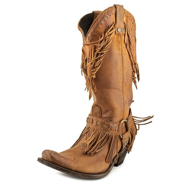"""Old Gringo Yasel 13"""" Women  Pointed Toe Leather Brown Mid Calf Boot"""