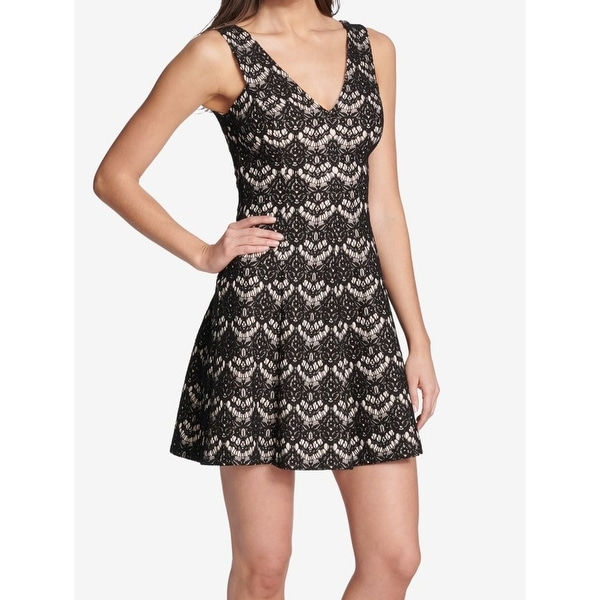 dc9f4afa4b Shop Kensie Black Women s Size 10 Floral Lace A-Line Sheath Dress - Free  Shipping On Orders Over  45 - - 27466873