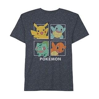 Pokemon NEW Navy Blue Mens Size XL Short Sleeve Graphic Tee T-Shirt