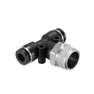 "Push To Connect Fittings T Type Thread Tee 15/64"" x 3/8"" G Male 2pcs - 15/64"" OD x 3/8"" G 2pcs"