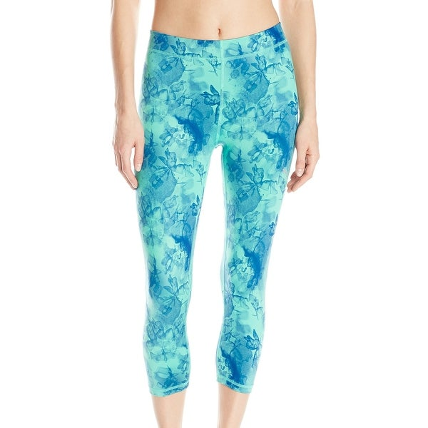 Puma NEW Green Blue Women's Size Small S Capris Cropped Active Pants