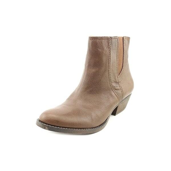 Nine West Womens Vasloane Leather Almond Toe Ankle Fashion Boots