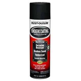 Rust-Oleum 248656 Automotive Undercoating Spray Paint, Black, 15 Oz.