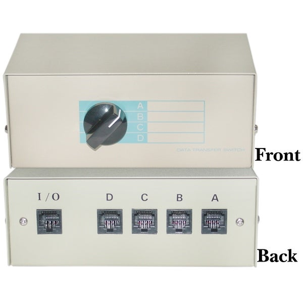 ABCD 4 Way Telephone Network Switch Box, RJ45 Female