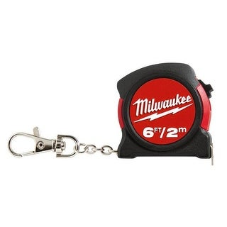 Milwaukee Electric Tools MLW48-22-5506C 6 ft. Keychain Tape Measure