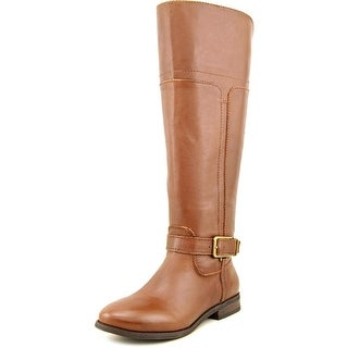 Marc Fisher Aysha Round Toe Leather Knee High Boot