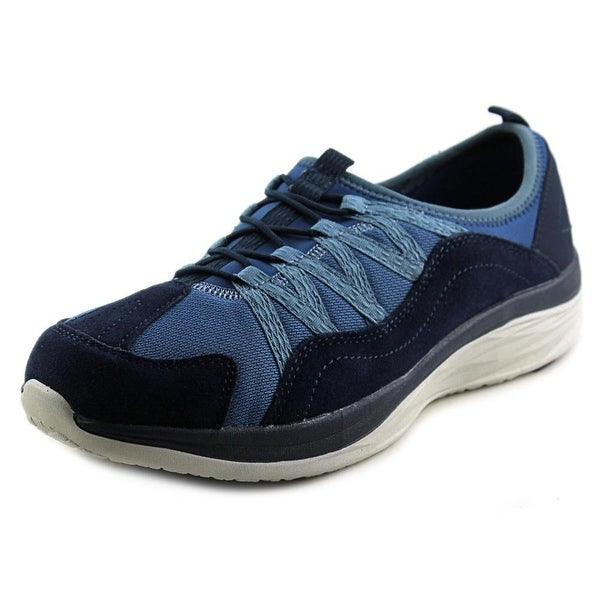 Easy Spirit e360 Halsten Women W Round Toe Leather Blue Walking Shoe