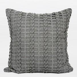 "G Home Collection Luxury Dark Gray Handmade Textured Pillow 18""X18"""