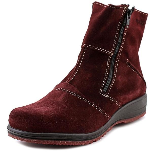 Martino Shirley Round Toe Leather Mid Calf Boot