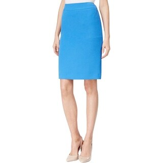 Tahari ASL Womens Pencil Skirt Textured Professional