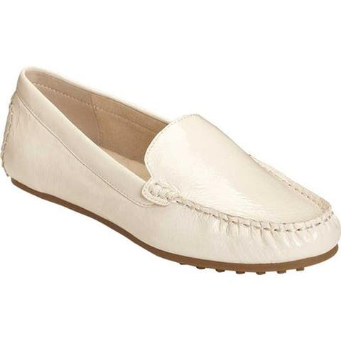 Aerosoles Women's Over Drive Loafer Bone Patent Leather
