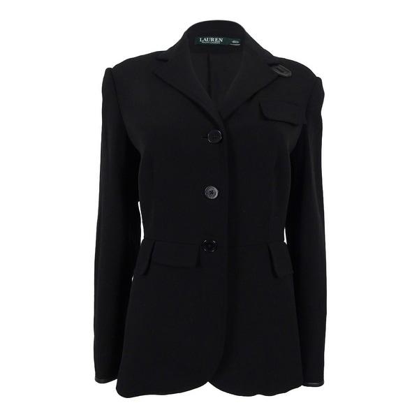 cf43406d6549 Shop Lauren Ralph Lauren Women s Wool Blend Jacket - Black - Free ...