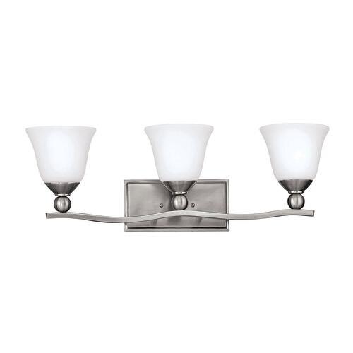 Hinkley lighting h5893 3 light 26 width bathroom vanity light from the bolla collection