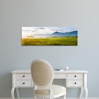 Easy Art Prints Panoramic Image 'Field, Cades Cove, Great Smoky Mountains National Park, Tennessee' Canvas Art
