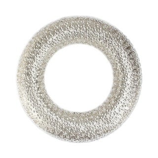 "20"" All That Glitters Beaded and Gold Glittered Christmas Wreath - Unlit"