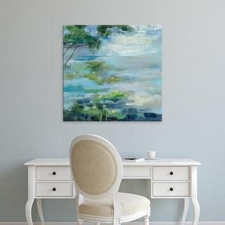 Easy Art Prints Silvia Vassileva's 'Lily Pond I' Premium Canvas Art