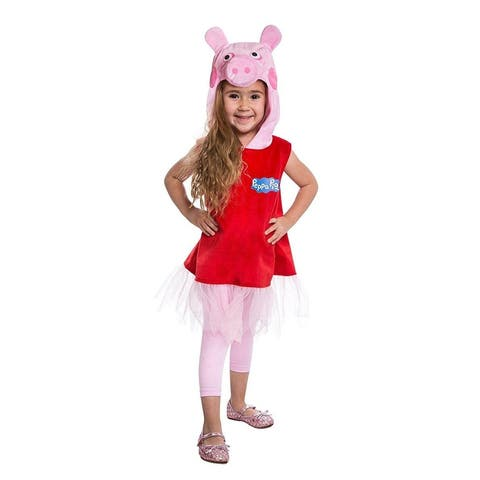 Peppa Pig Deluxe Peppa Pig Dress Toddler Costume - Pink