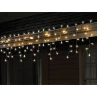 Celebrations 40811-71 Traditional LED Icicle Light Set, Cool White, 100 Count - Cool White