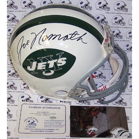 quality design 9e83c 3597b Joe Namath Hand Signed New York Jets Throwback Authentic Helmet - PSA/DNA
