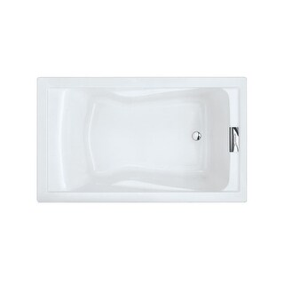 "American Standard 2771.V002 Evolution 60"" Acrylic Soaking Bathtub with Reversible Drain"
