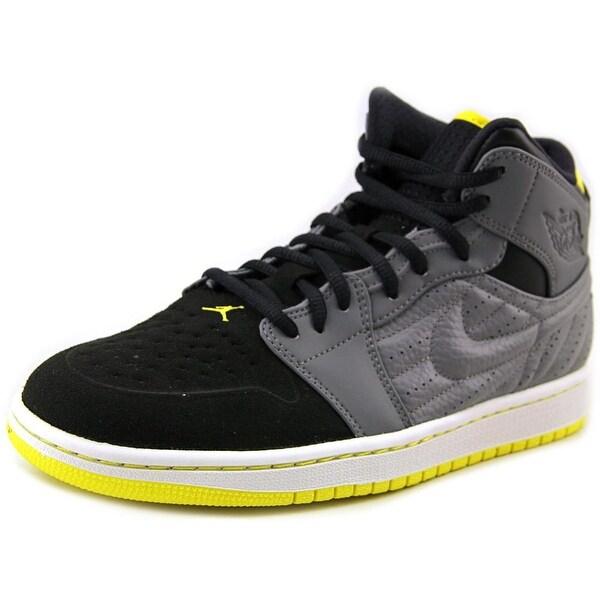 Jordan Jordan 1 Retro '99 Men Cool Grey/Vbrnt Yllw-Blk-White Basketball Shoes