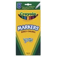 Crayola 008547 Marker Crayola Washable Fine Bold Set Of 8