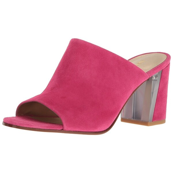 Shop Nine West Womens Gemily Leather - Open Toe Mules - - Leather 21834190 b45e9e