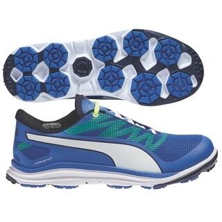 Puma Men's Biodrive Strong Blue/Peacoat/Fluro Yellow Golf Shoes 187581-03