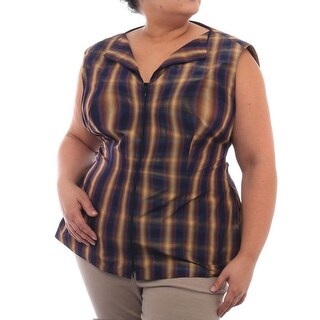Lafayette 148 New York Sleeveless V-Neck Blouse Women Regular Blouse