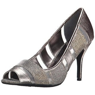 J. Renee Womens Jemma Glitter Peep Toe Evening Heels