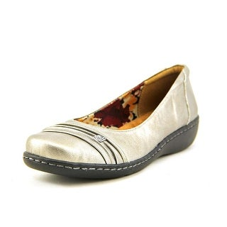 Soft Style by Hush Puppies Jordyn Women  Round Toe Leather Silver Flats