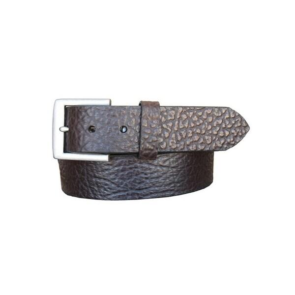 Vintage Bison Western Belt Mens Chaparral Leather Brown