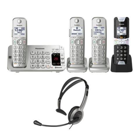 Panasonic LINK2CELL Bluetooth Cordless Phone with Rugged Phone Bundle