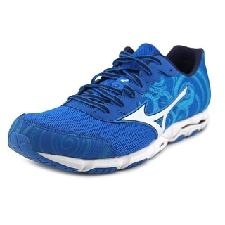 Mizuno Wave Hitogami 2 Men Round Toe Synthetic Blue Running Shoe